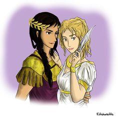 kitshunette: Reyna & Annabeth