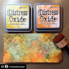 The magic of Distress Oxides is pretty powerful! #timholtz #timholtzdistress #rangerink #Repost @marjiekemper with @repostapp ・・・ Just had my first play with Tim Holtz's new Distress Oxide ink. Wooot! So many options based on your choice of color, amount of H2O, layering, etc.