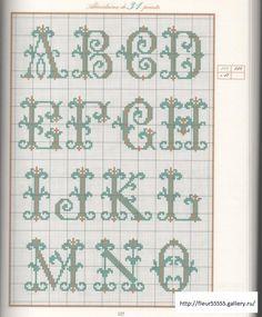 Lejeune, alphabets. Source: Fleur5555@Gallery.ru