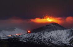 Snowcapped Volcano~Mt. Etna