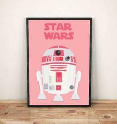 poster star wars pink 30x40cm