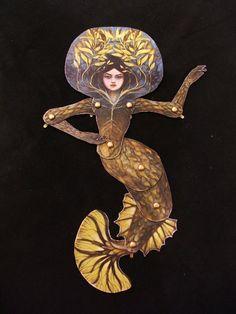PDF Mermaid articulated paper doll DIY by CrimsonCuriouseum, $5.00 #artdolls #mermaids