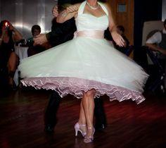 Vivien of Holloway full circle halterneck shorter tea length wedding dress