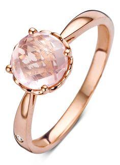 Diamond Point Colors roségouden ring • de Bijenkorf