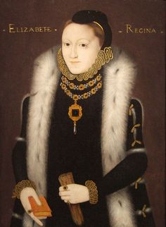Queen Elizabeth I with an ermine collar or stole.