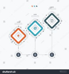 Infographics template 3 options with square. Can be used for workflow layout, diagram, number options, step up optio , Image Infographics, Abstract Backgrounds, Royalty Free Stock Photos, Diagram, Design Ideas, Layout, Graphic Design, Templates, Number
