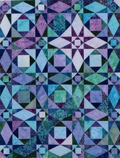 """Flynn Quilt Frame Company: Storm at Sea 12"""" Pre-cut Kit cool colorway"""