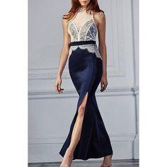 Stand Collar Sleeveless Lace Design Women's Dress