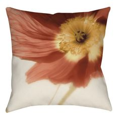 Manual Woodworkers & Weavers Mystic Poppy 1 Printed Throw Pillow & Reviews | Wayfair