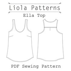 Ella Top PDF Sewing Pattern by lioladesigns on Etsy