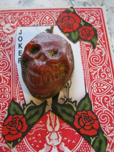 Agate RED Skull Pendant by janissupplies on Etsy, $17.50