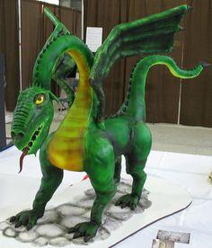 Dragon cake by courtneyscakes, via Flickr