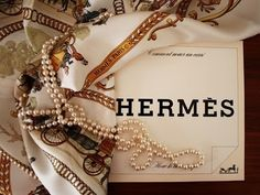 pearls and hermes. does it get any better? by chris