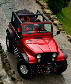 Love the color Høt jéèps Jeep Red jeep, Jeep cj red color jeep wrangler - Red Things Wrangler Jeep, Jeep Wranglers, Jeep Willys, Auto Jeep, Carros Toyota, Offroader, Jeep Truck, Jeep Jeep, 4x4 Trucks