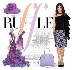 """Beautiful Ruffles!"" by bevmardesigns ❤ liked on Polyvore featuring Versace, ToBeInStyle, Per Se, Beaufille, Kate Spade, 2028, Margot McKinney, women, fashionset and womensFashion"