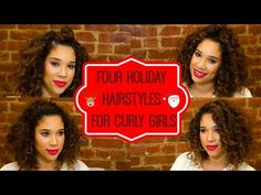 Four Holiday Hairstyles for Curly Hair - Gypsy In The City