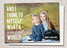 Photo Christmas Card Holiday Card: PRINTABLE And by cardsetcetera