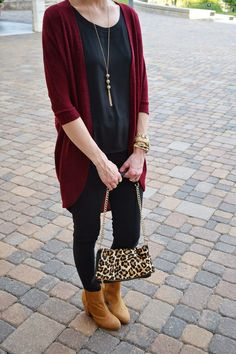 Amy Ann Arnold: the Real Arnolds Blog // We adore how Amy paired her burgundy/wine cardigan from Jane.com! Super comfy and super chic at the same time. #veryjane