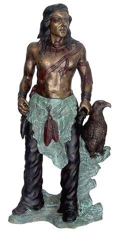 Figurative Bronze Sculptures - Native American Indian
