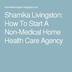 Shamika Livingston: How To Start A Non-Medical Home Health Care Agency