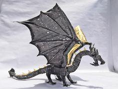 Dinosaur Origami, Origami Dragon, Oragami, Origami Paper, Origami Lotus Flower, Paper Art, Paper Crafts, Origami Diagrams, Origami Videos