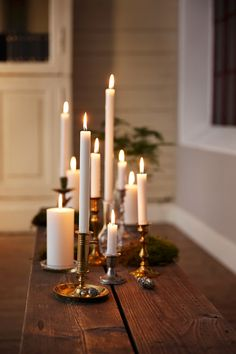 Crown candles in different hights creates a cosy mood ral certified jul, ma