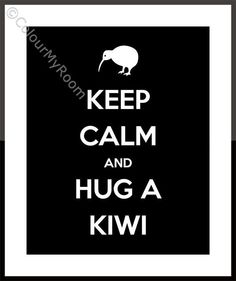 KEEP CALM and hug a KIWI Printable Home Wall Art Print Kiwi New Zealand Aotearoa All Blacks Rugby instant download on Etsy, $3.00