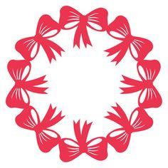 Silhouette Design Store: bow wreath