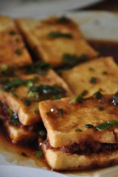 Fried Tofu with Pork Meat  Read more http://outoftownblog.com/top-10-must-visit-restaurants-binondo/