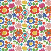 Flowers Textured fabric @ Spoonflower