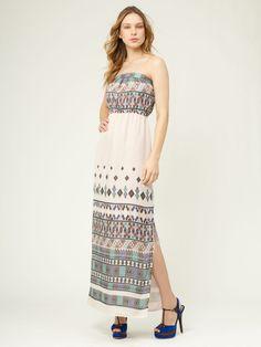 Twelfth St. By Cynthia Vincent Silk Chiffon Slit Maxi Dress