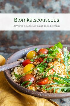 Lchf, Keto, Paleo, Couscous Salat, Comfort Food, Low Carb Recipes, Bacon, Food And Drink, Vegan