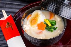 be healthy-page: Japanese New Year Mochi Soup