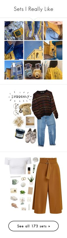"""""""Sets I Really Like"""" by imveryconfused ❤ liked on Polyvore featuring art, Levi's, INDIE HAIR, Polaroid, adidas, A.L.C., Aesop, NARS Cosmetics, Lux-Art Silks and canvas"""