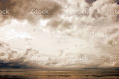 Cloudscape Landscape in Soft Focus royalty-free stock photo