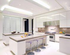 Magni Design - Beverly Hills | Palatial Escape - clean, minimalist all-white kitchen