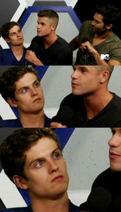 Daniel looks like Matty from awkward in this picture Teen Wolf Isaac, Teen Wolf Twins, Teen Wolf Mtv, Teen Tv, Teen Wolf Dylan, Teen Wolf Cast, Dylan O'brien, Carver Twins, Max Carver