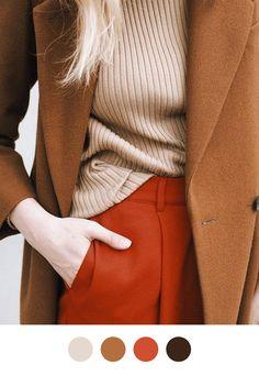 Color scheme - ochre rust beige camel