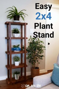 Grab the Free wood working plans to build this DIY Plant Stand in a few hours for under 25 with detailed tutorial Great indoors or outdoors when you stain or paint it Easy Woodworking Projects, Diy Wood Projects, Wood Crafts, Diy Crafts, Woodworking Plans, Woodworking Tools, Popular Woodworking, Unique Woodworking, Woodworking Machinery