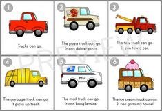 6 FREE transportation sight word readers!  The pin shows the text of Trucks Can Go.  Other books are Water Transportation, Air Transportation, and Cars Can Go.