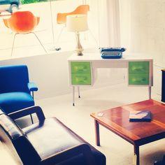 Rare Broyhill Desk & Paul McCobb Lounge Chair