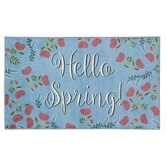 Get the look and durability you've been searching for with this stylishly seasonal Mohawk Home Prismatic Hello Spring EverStrand rug. In blue. Blue Throw Rugs, Prismatic, Outdoor Door Mat, Scatter Rugs, Rug Pad, Rugs, Indoor Mat, Mohawk Home, Hello Spring