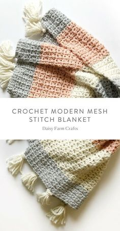 Crochet Patterns Modern Free Pattern – Crochet Modern Mesh Stitch Blanket We are want to say … Crochet Afghans, Crochet Motifs, Afghan Crochet Patterns, Baby Blanket Crochet, Quilt Pattern, Crochet Baby, Knitting Patterns, Free Pattern, Crochet Blankets