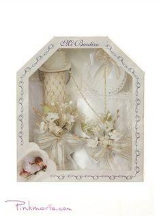 White Spanish First Communion gift set box