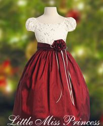 For the Holidays Red Santa Christmas Dress with White Faux Fur Adorning the Neckline
