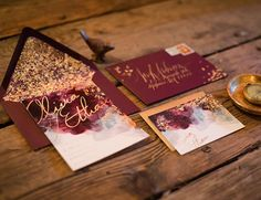 Your Guide to Fall Wedding Colors - Inspired by This maroon wedding ideas Your Guide to Fall Wedding Colors Luxury Wedding Invitations, Wedding Stationary, Wedding Planner, Burgundy Wedding Invitations, Anniversary Invitations, Gold Invitations, Invitation Envelopes, 50th Anniversary, Star Wedding