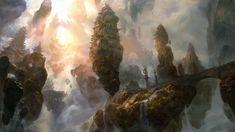 cloud temple, Bruce Zhang on ArtStation at https://www.artstation.com/artwork/QXAkL