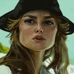 Elizabeth Swann, Pirates Of The Caribbean, Drawing Techniques, Caricature, Drawings, Artwork, Painting, Deep, Work Of Art