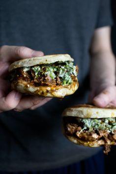 Xi' An Style Mushed Lamb Meatball Burger