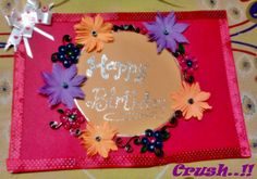 handmade card quilled